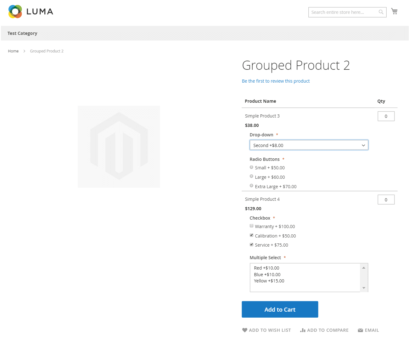Custom Magento extension for grouped product