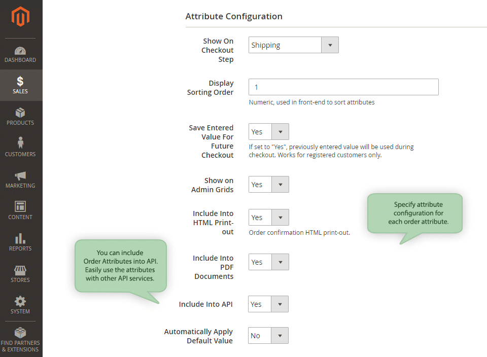 order attributes extension adds custom field in Magento 2 checkout