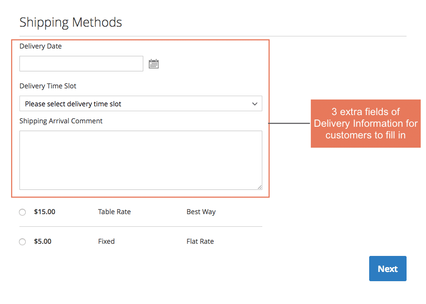 Magento 2 Delivery Date And Time extension BSSCommerce