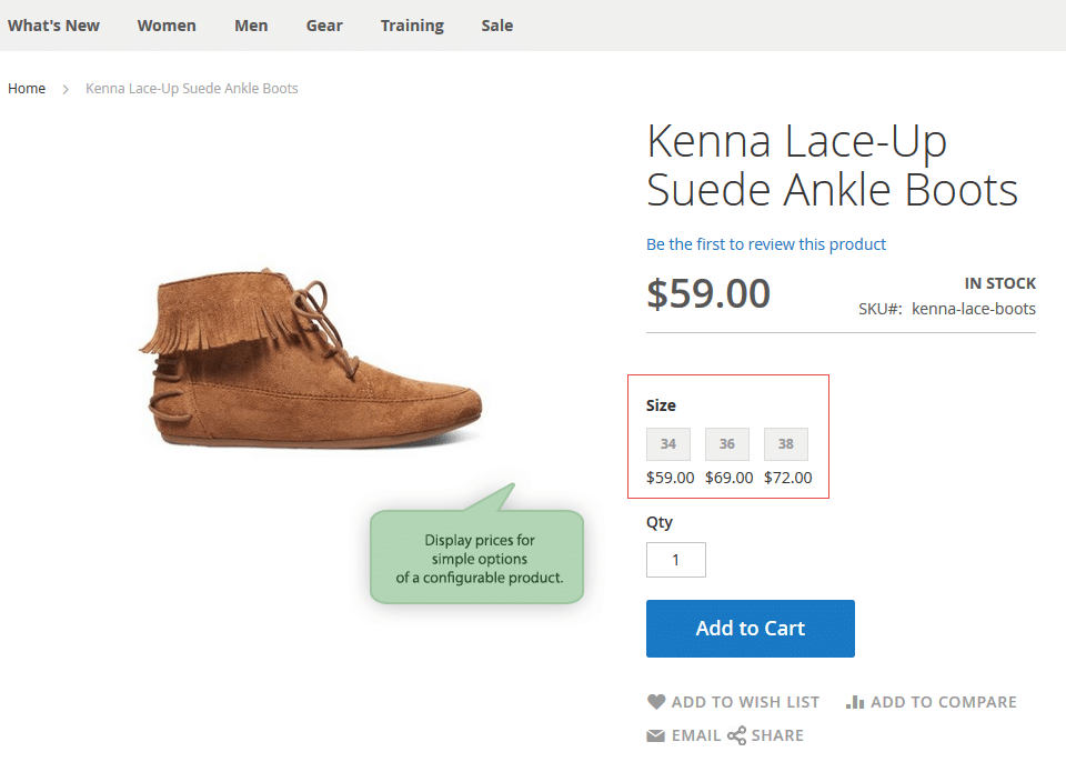 Magento 2 Color Swatch extension shows price