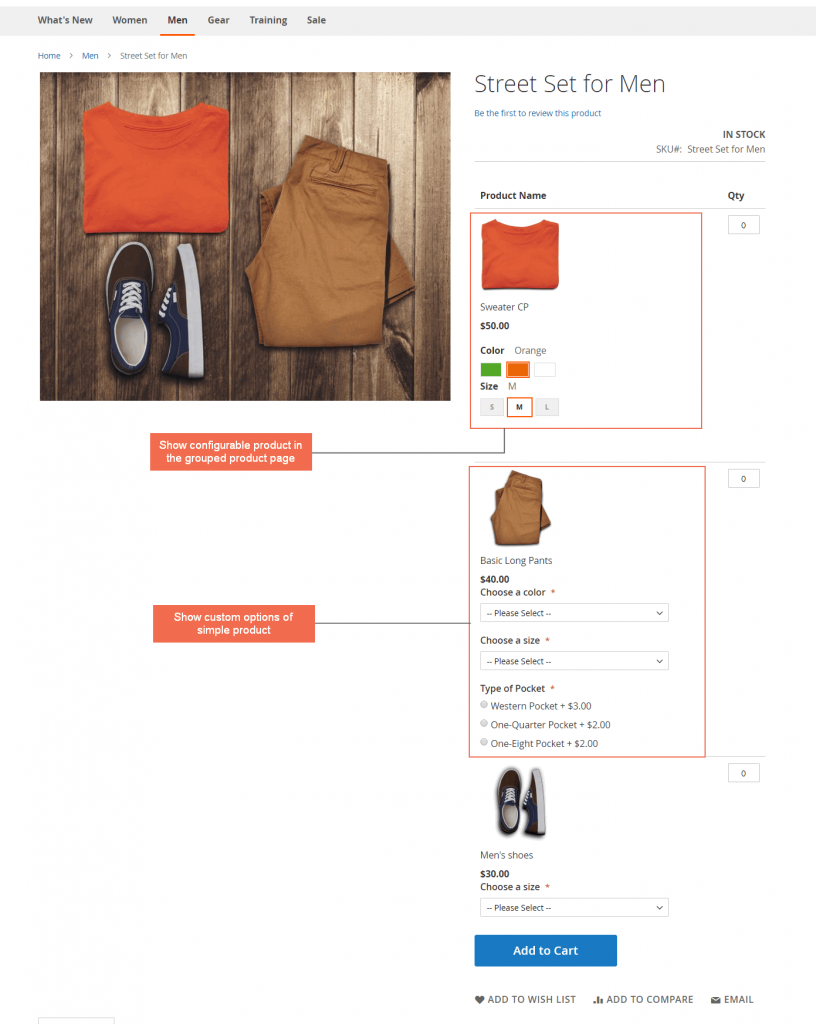 magento 2 grouped products with custom options bsscommerce
