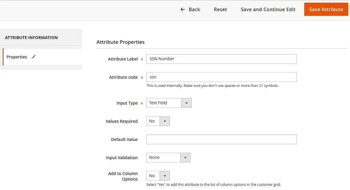 Magento 2 Customer Attributes extension DCKAP