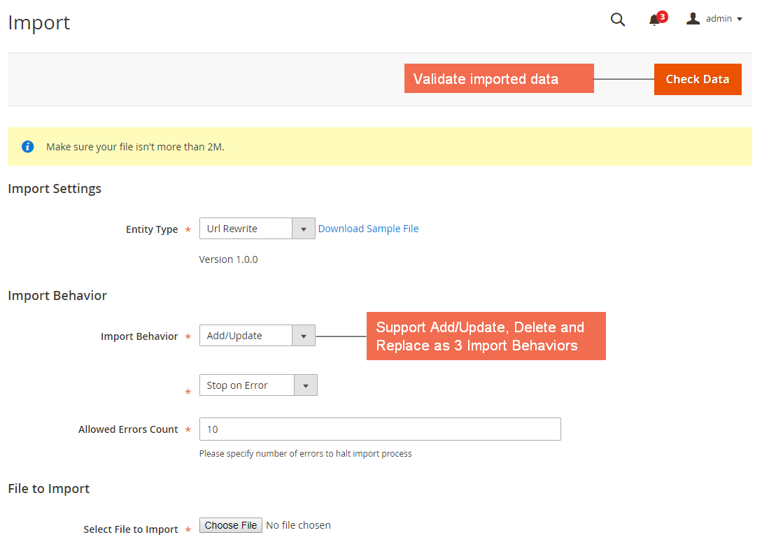 Magento 2 Import Export URL Rewrite extension BSSCommerce