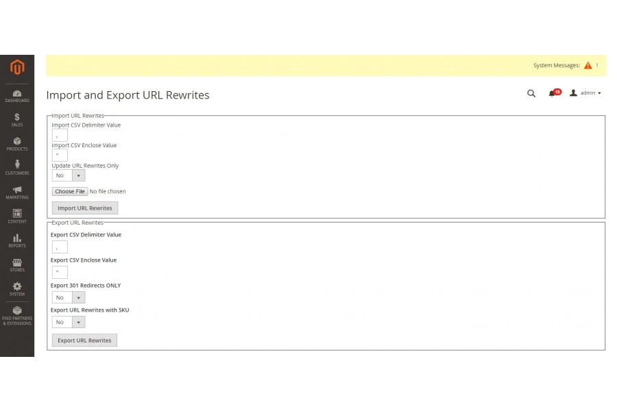 Magento 2 Import Export URL Rewrite extension Commerce Extensions