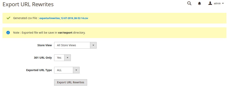 Magento 2 Import Export URL Rewrite extension MageBees