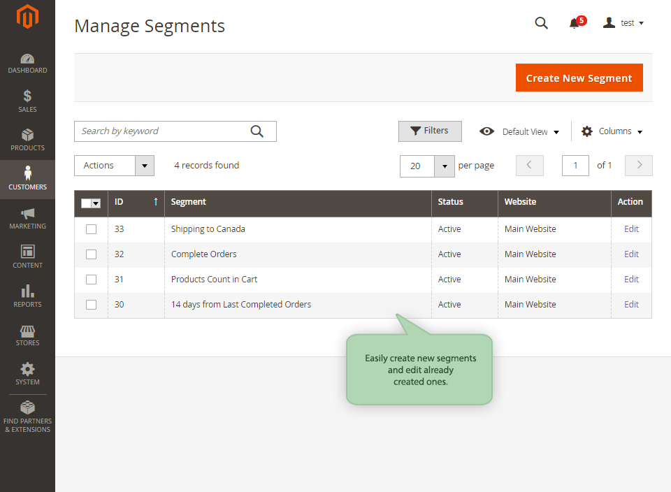 Magento 2 Customer Segments Extension
