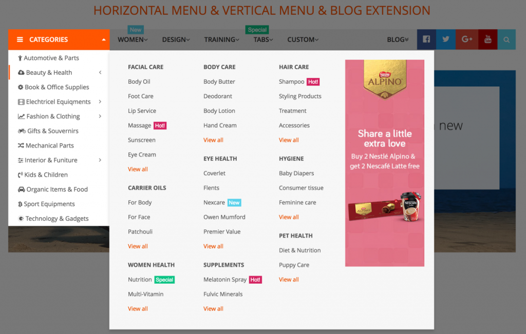magento 2 mega menu extension land of coder pro
