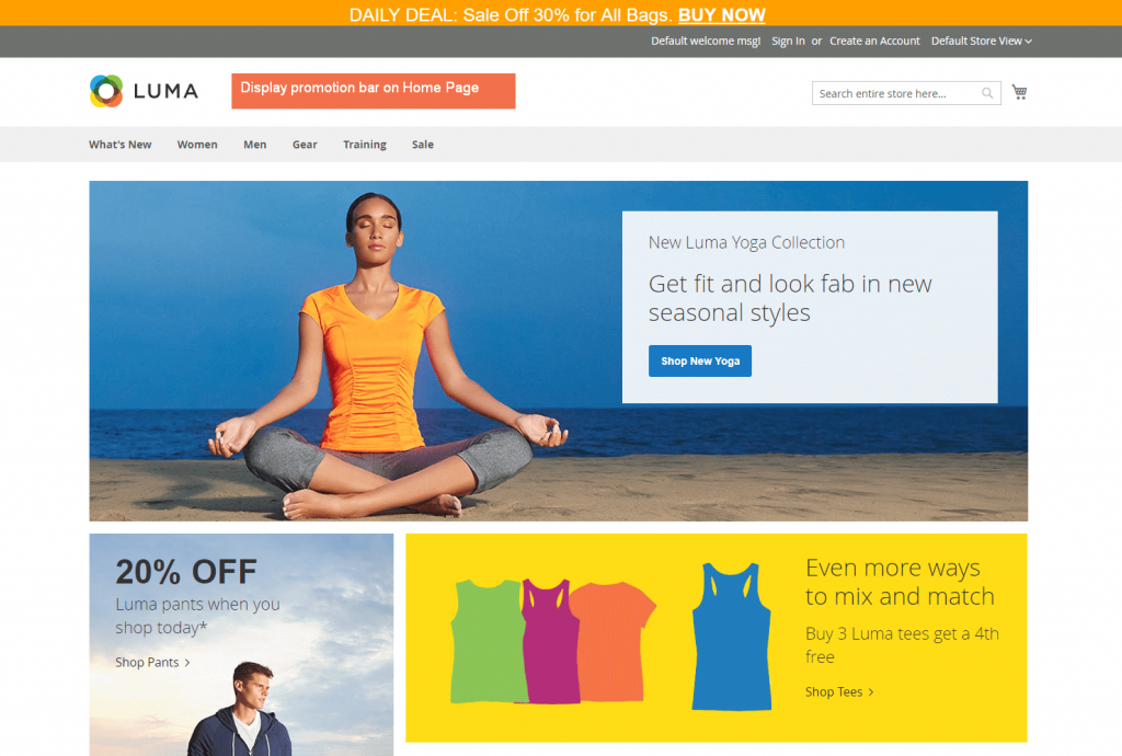 magento 2 promotion bar extension bsscommerce