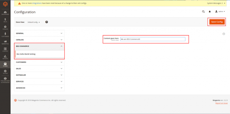 BSS-Hello-World-Setting-Create-Magento-Extension-Online