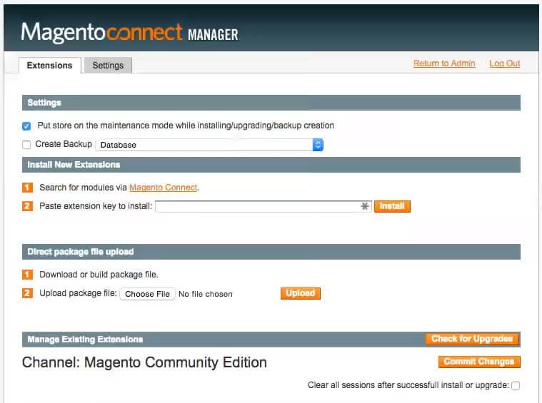 magento-connect-management