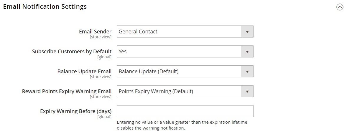 config-customers-reward-points-email-notification-settings