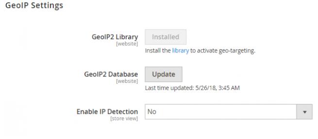GeoIP-Setting