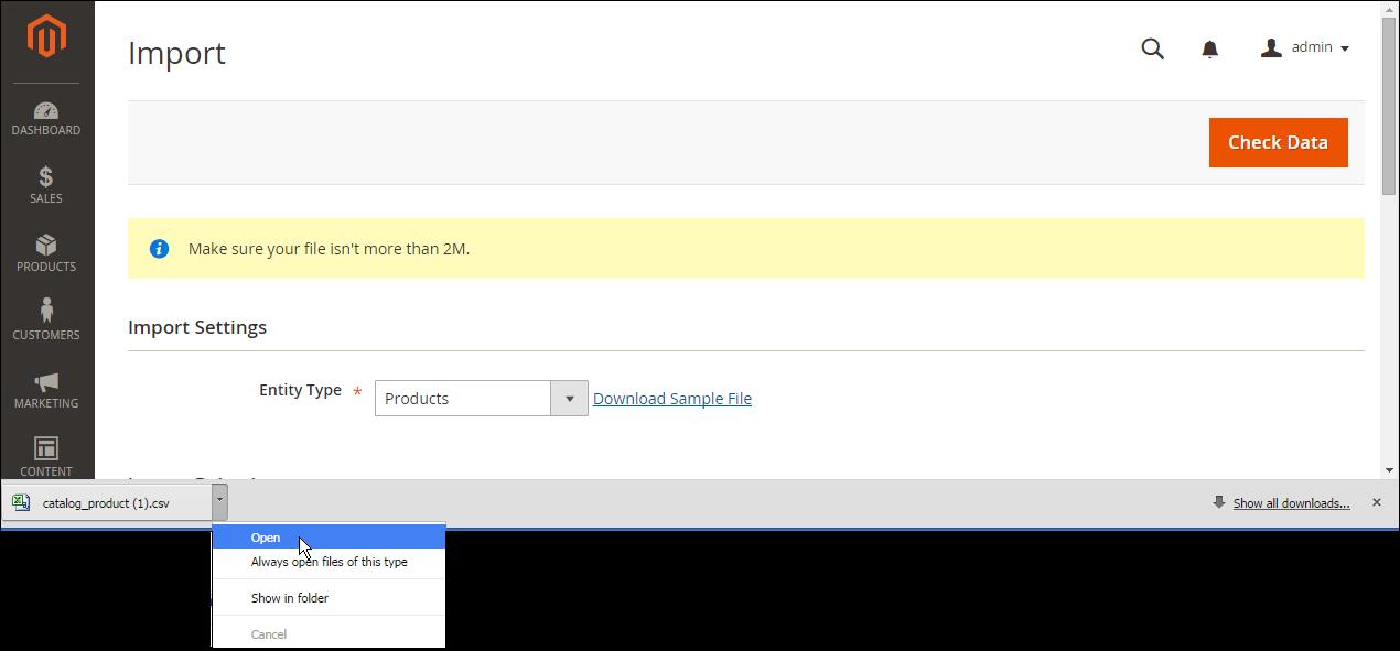 import-download-sample-file